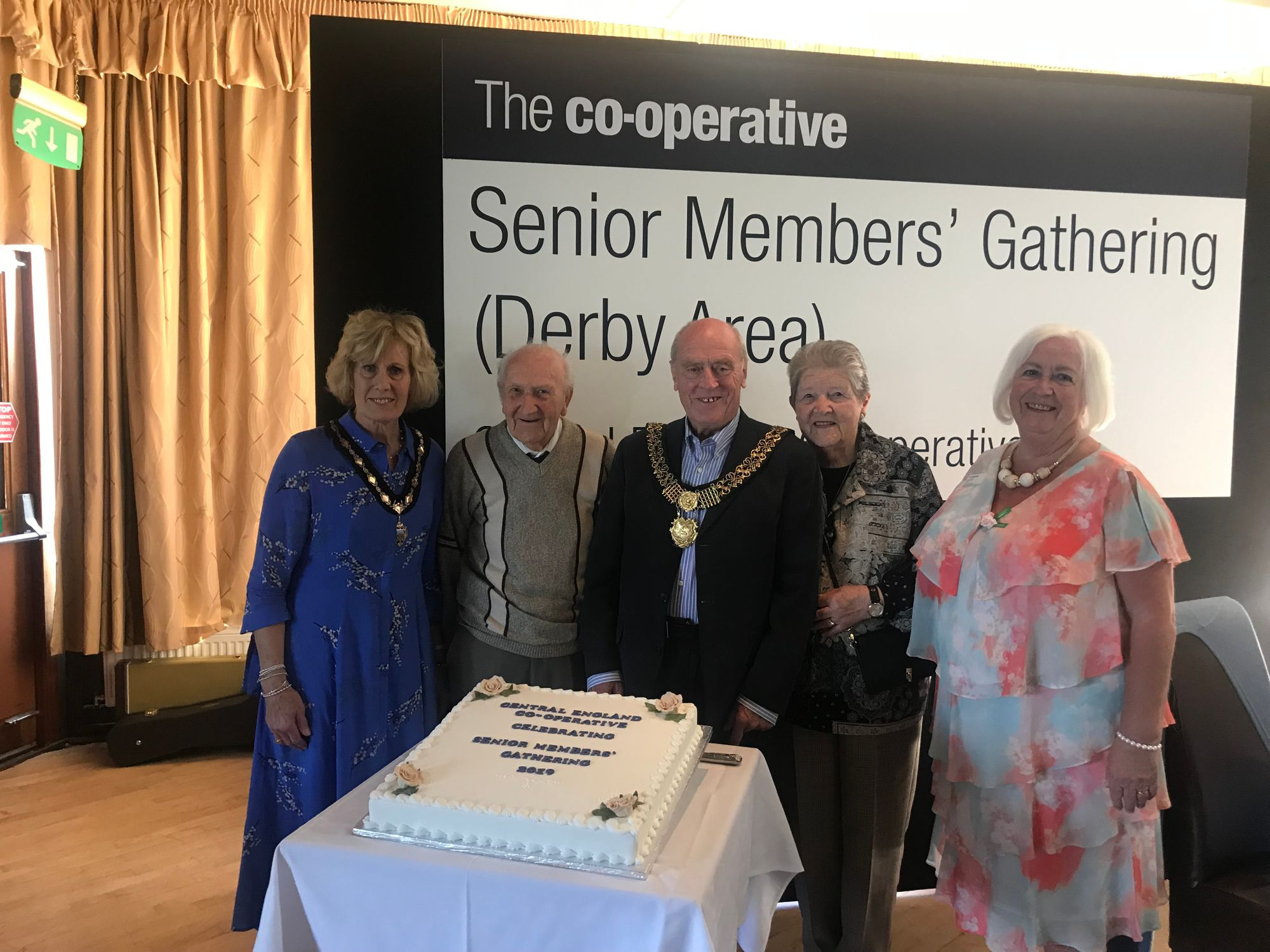 Celebrating 60 years of Co-op membership with members from Derby