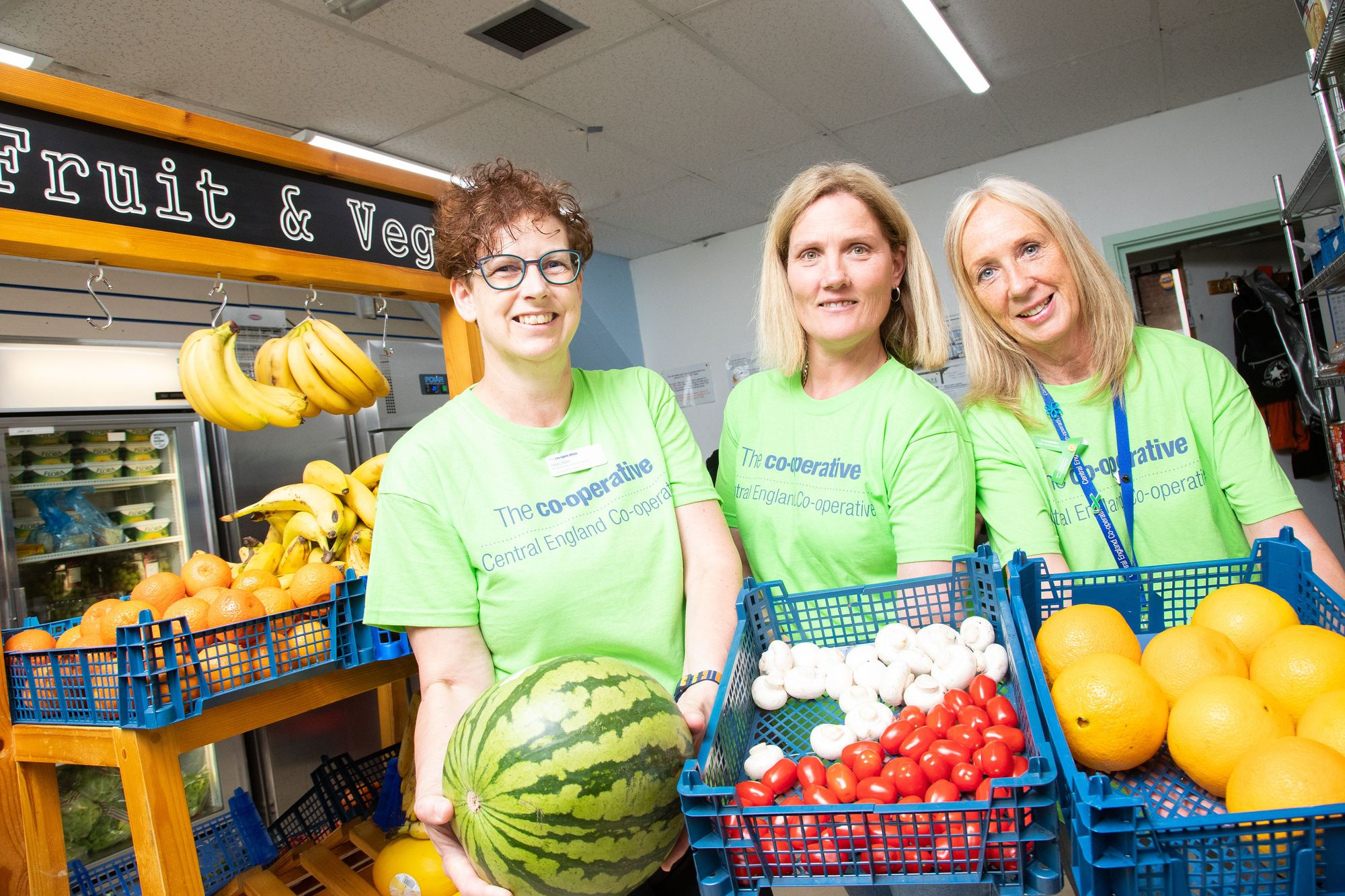 Colleagues mark Co-op Fortnight by volunteering in Leicester emergency food shop