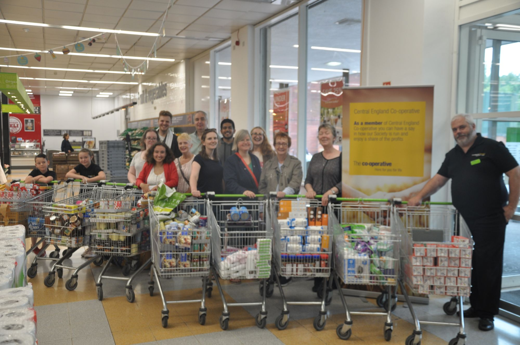 Central England Co-operative support local Food Bank