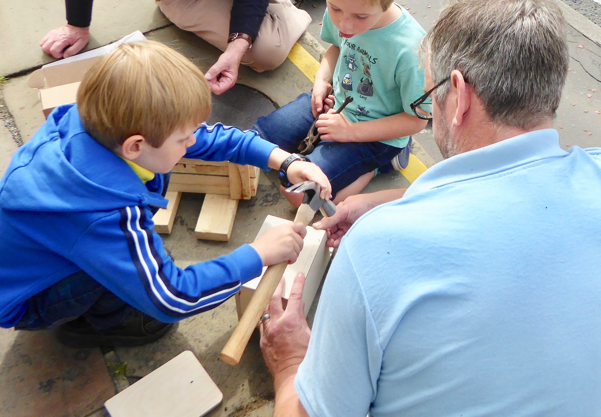 Bird box making in New Mill