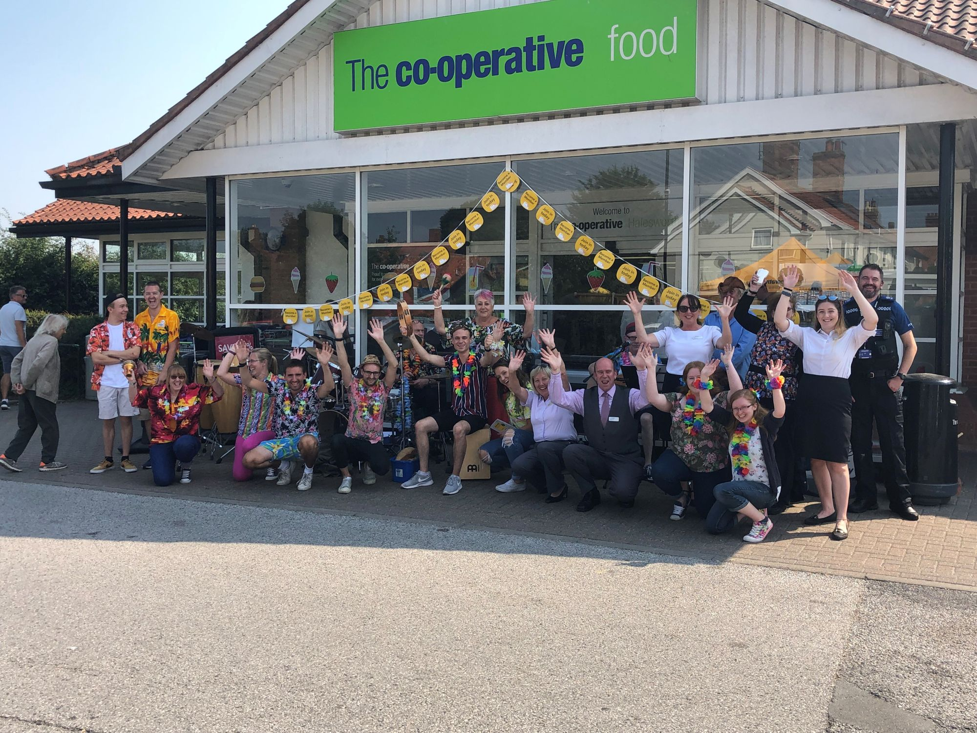 Halesworth Community Store puts on a show for their customers