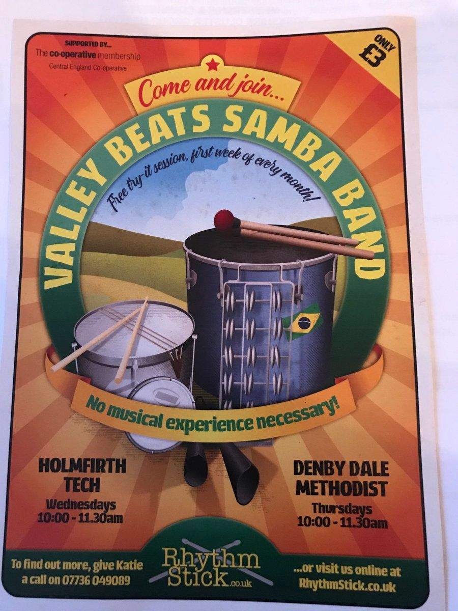 Why not try something new and attend Valley Beats Samba Band.