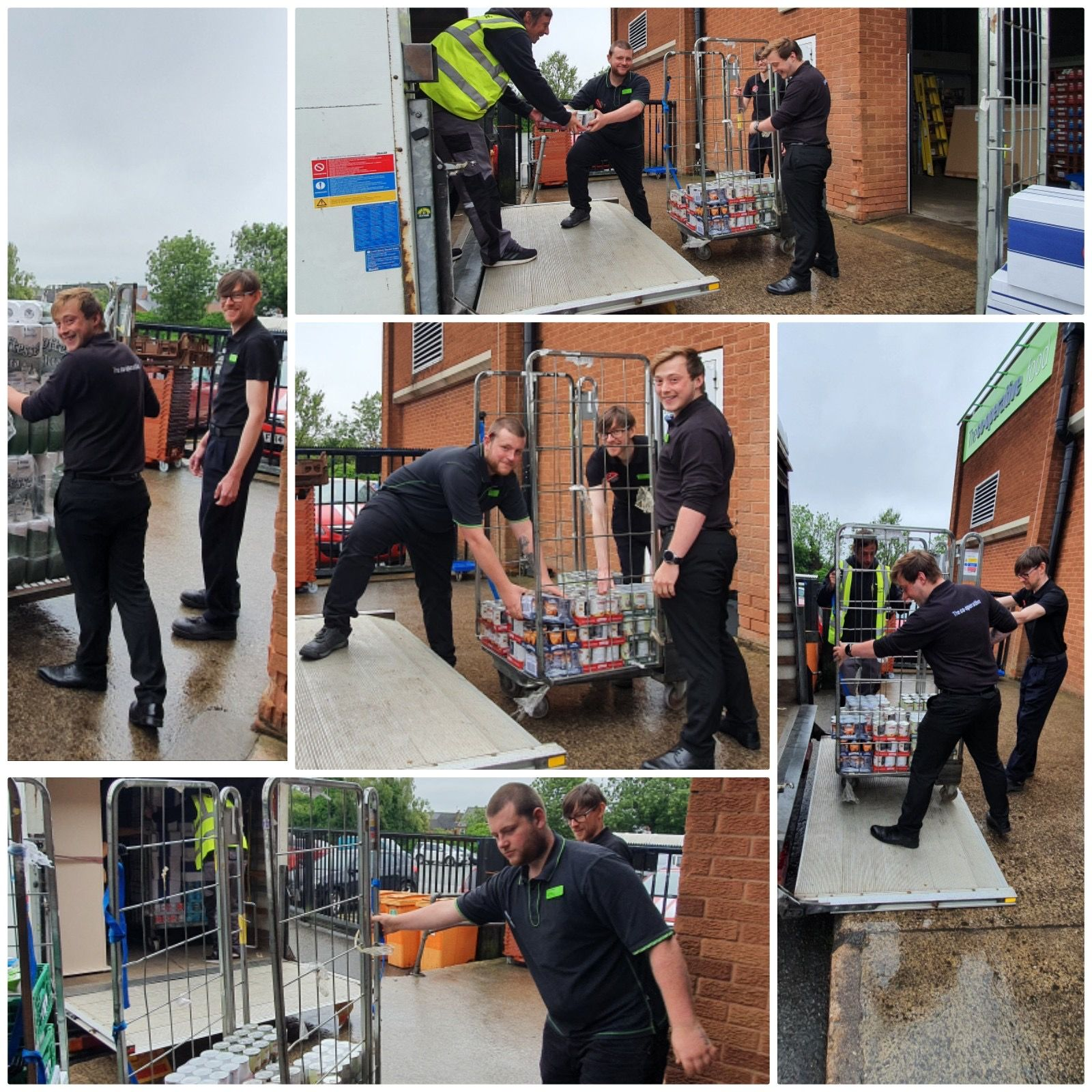 Food banks thank our colleagues for their quick response