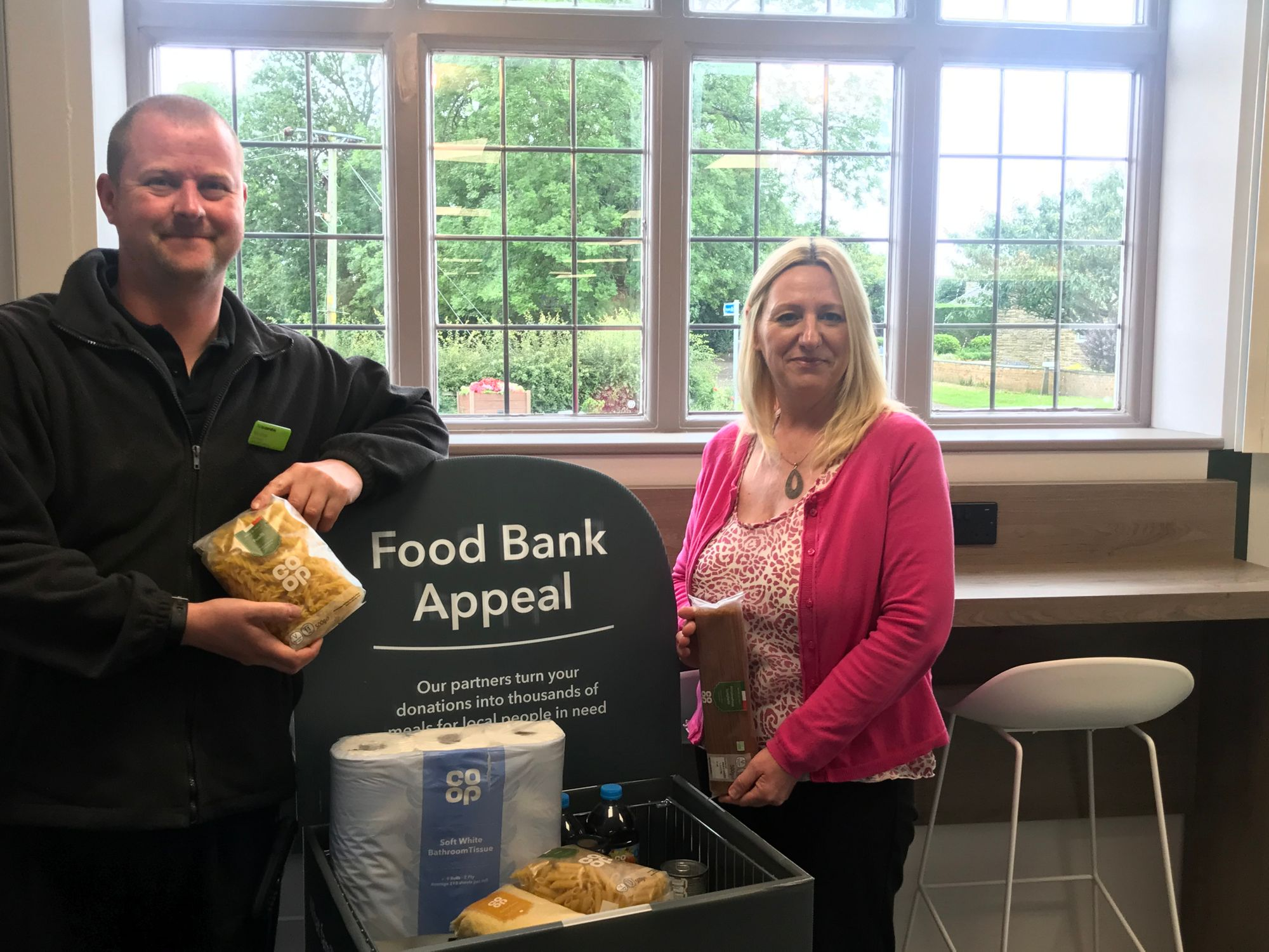 Food Bank collection in Barnby Dun