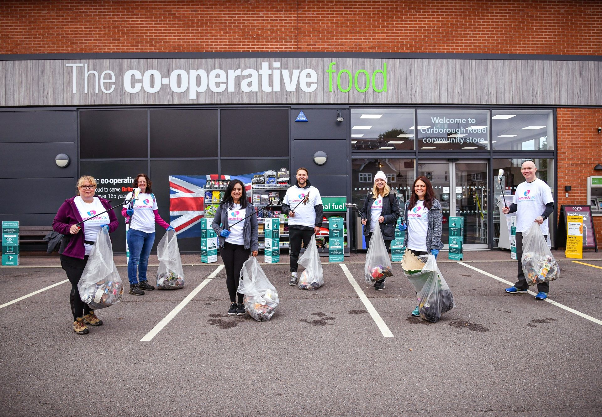 Central England Co-op team support Dementia UK with 'three peaks' litter picking challenge