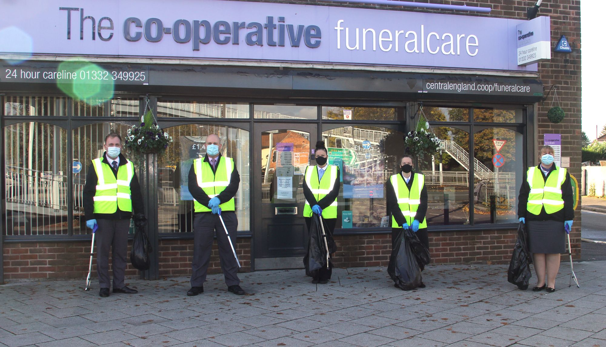 Derbyshire funeral colleagues help to improve local environment