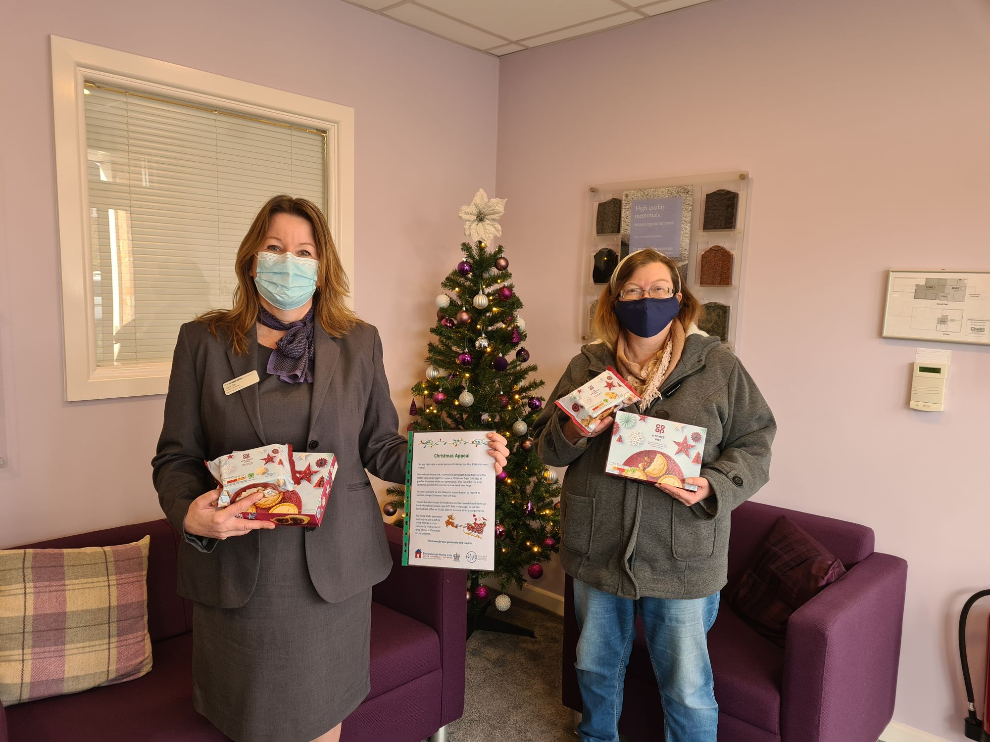 Borrowash funeral home supports local charity's Christmas appeal bringing festive cheer
